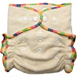 Hemp / Organic Cotton Fitted Cloth Diapers (Includes 2 Inserts; Fits 7-25lbs) (1 Pack)