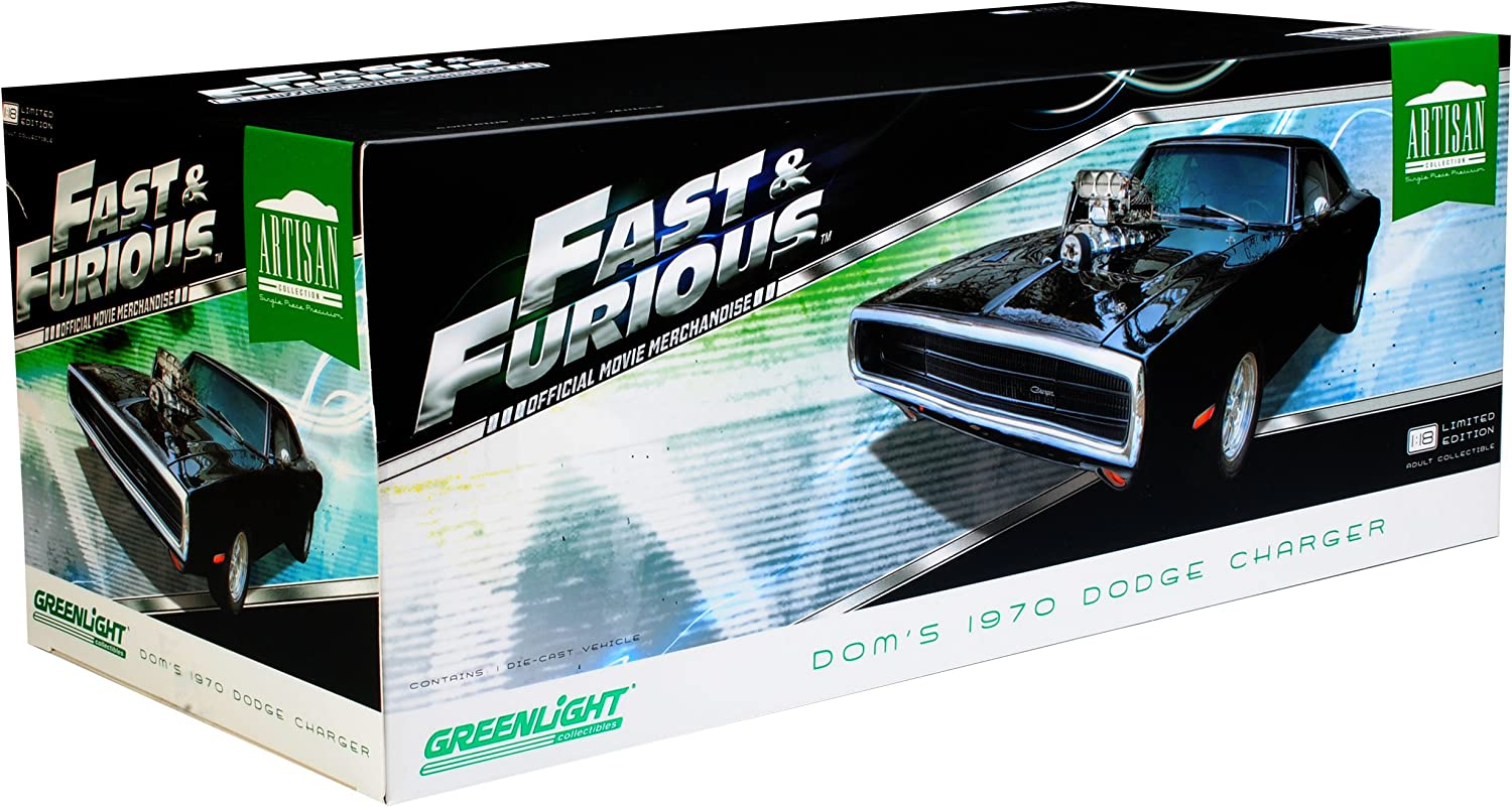 Dodge Charger R//T Dominic Toretto The Fast and The Furious Bausatz Kit 1//24 1//25 Revell Monogram Modell Auto mit individiuellem Wunschkennzeichen