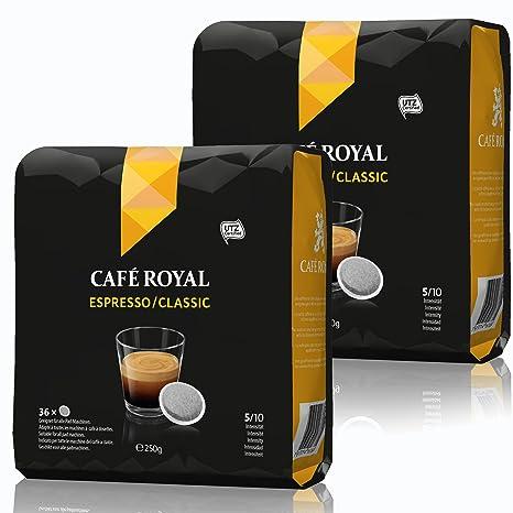 Café Royal Pads Espresso Classic Café, Café Tostado, Monodosis, para todas las máquinas