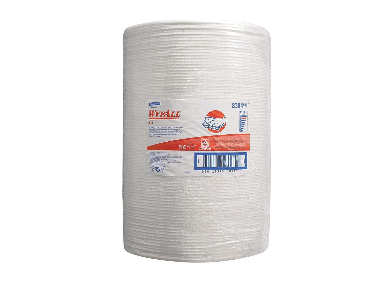 500 Tücher 1-lagig Kimberly Clark Wypall X70 Wischtücher Großrolle weiß