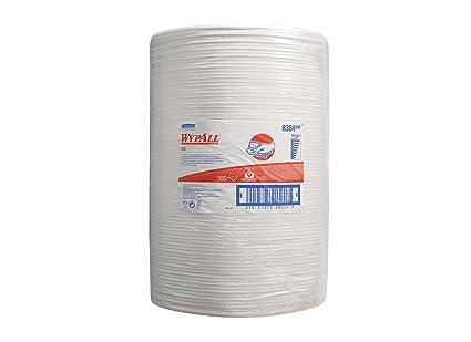 Paños WYPALL* X70 8384: 1 rollo grande x 500 paños blancos de 1 capa