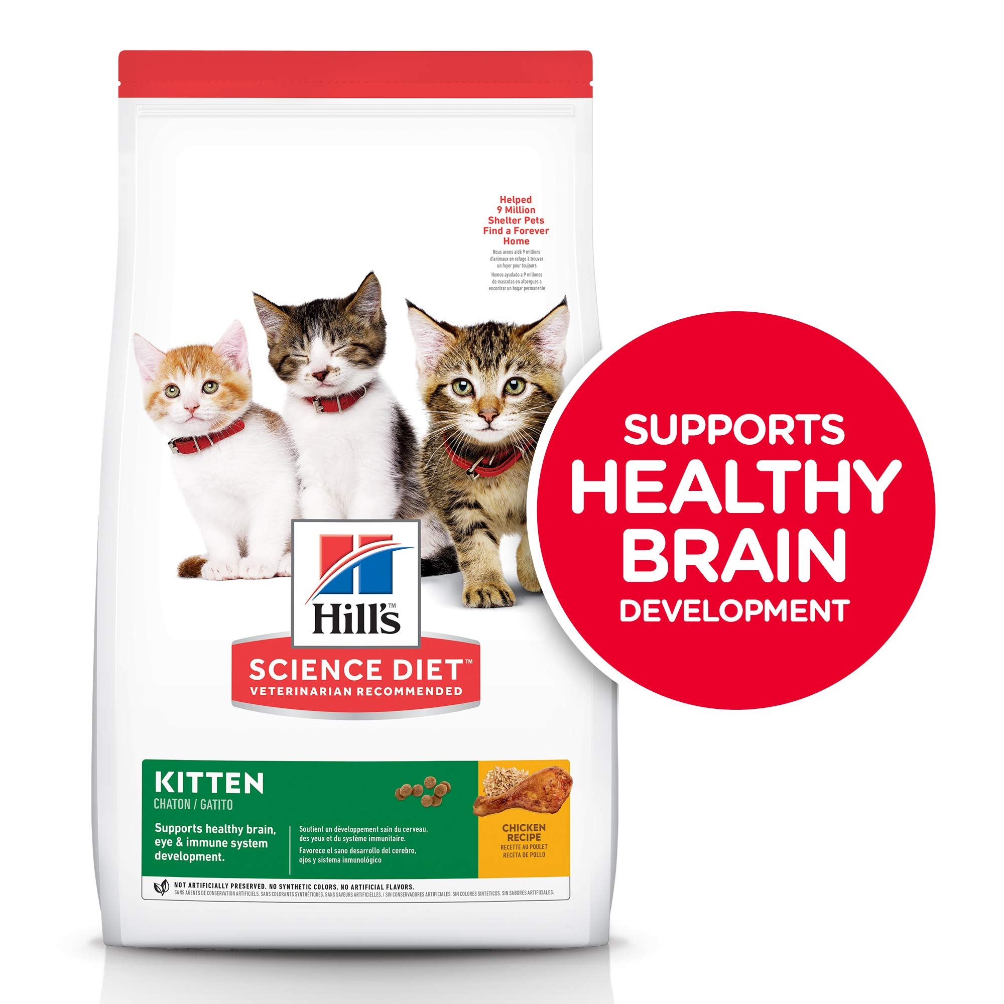 Hill's Science Diet Dry Cat Food, Kitten, Chicken Recipe, 15.5 lb Bag by Hill's Science Diet