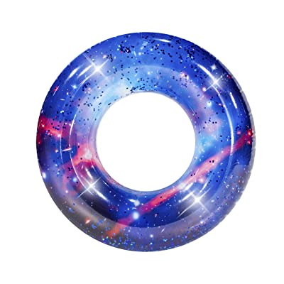 "Poolcandy Galaxy Pool Tube 36"" - Auriga Blue Glitter- Perfect for Swimming Pool Parties, The Beach or Lakes.: Toys & Games"