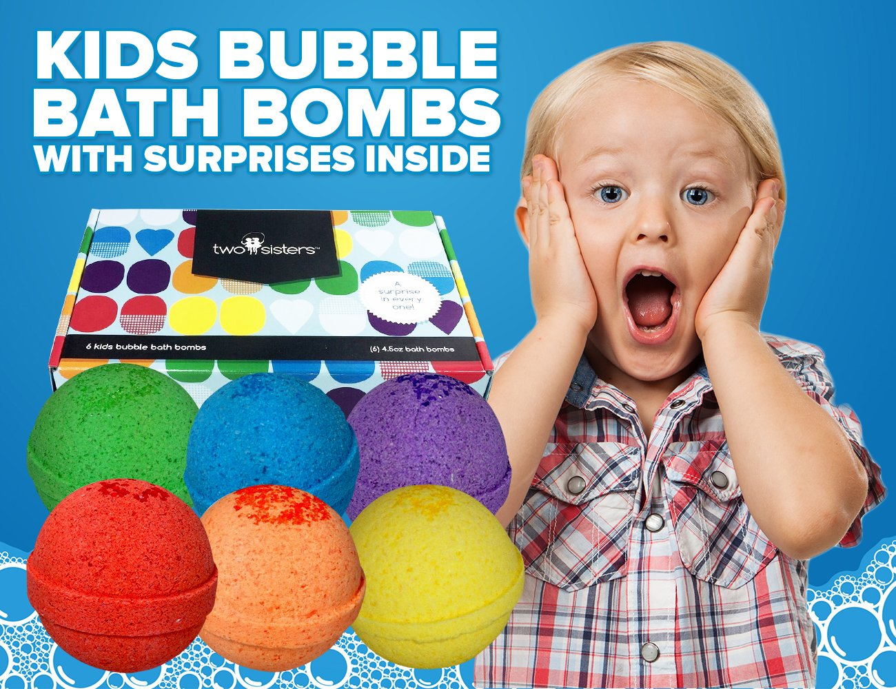 Bubble Bath Bombs For Kids With Surprise Toys Inside For