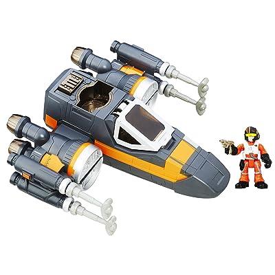 Playskool Heroes Star Wars Galactic Heroes Poe's X-Wing Fighter: Toys & Games