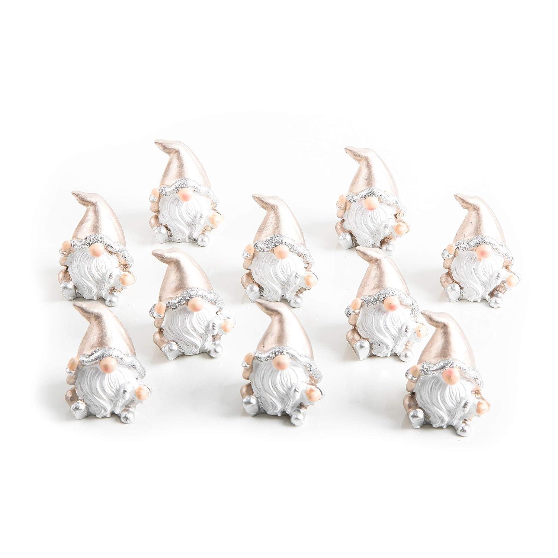 Amazon.de: 10 kleine Weihnachtswichtel gold weiss glänzend WICHTEL ...