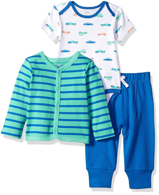 Essentials Baby Boys 3-Piece Cardigan Set
