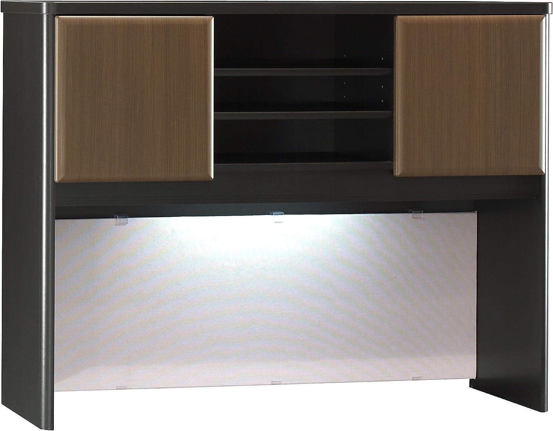 Bush Business Furniture Series A Collection 48W Hutch in Sienna Walnut/Bronze