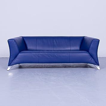 Amazonde Bmp Rolf Benz 747 Designer Sofa Blau Leder Zweisitzer