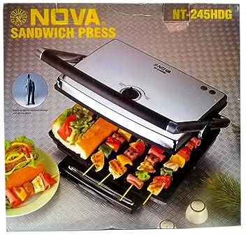 Nova NT-245 HDG Heavy Duty Commercial Sandwich Grill Press- 2200Watts Sandwich Makers at amazon