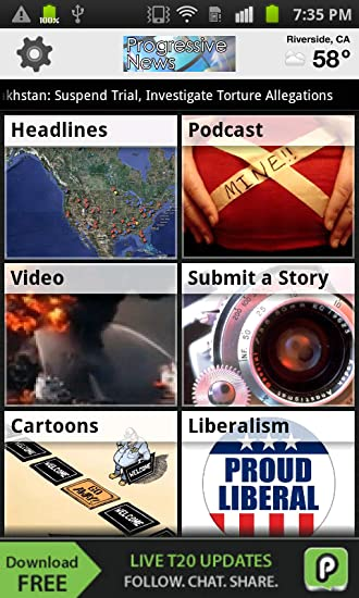 Amazon com: Progressive News all in one: Appstore for Android