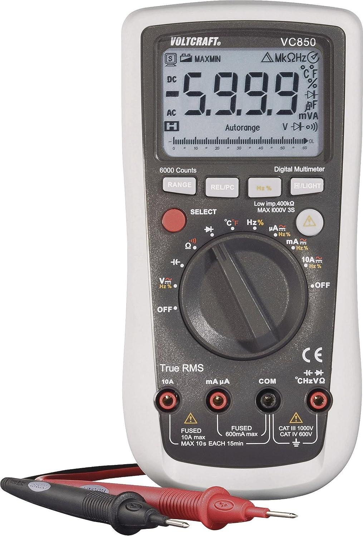 Voltcraft Vc850 Handheld Digital Multimeter Cat Iii 1000 V Cat Iv 600 V Display Counts 6000 Business Industry Science