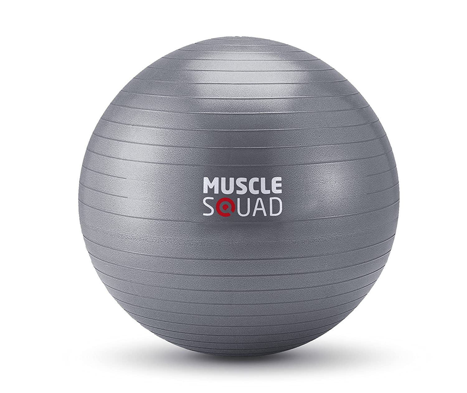 MuscleSquad 55cm Gym Ball – Heavy weight PVC Gym Ball – For Stability, Core Training and Strength For Home Or Gym Use - Free Exercise Chart Included MuscleSquad Limited