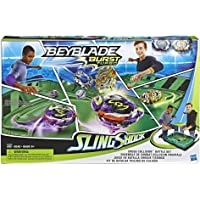 Hasbro Beyblade Burst Turbo Slingshock Cross Collision Battle Set - Complete Set with Beyblade Burst Beystadium, Battling Tops, and Launchers - Age 8+