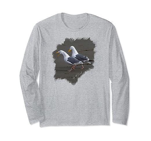 Two Gulls Long-sleeved T-Shirt