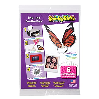 Shrinky Dinks Creative Pack 6 Sheets for Ink Jet Printers Kids Art and Craft Activity: Toys & Games