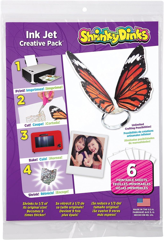 Pack 6 hojas Dinks Creative  para impresoras de chorro
