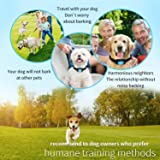 PATPET Dog Bark Collar Safe Shock Rechargeable Anti Stop Barking Collar with 7 Levels for Small to Large Dogs, Smart Chip Adjustable Dog Training Collar, No Pain - Safe, Anti-Bark Device
