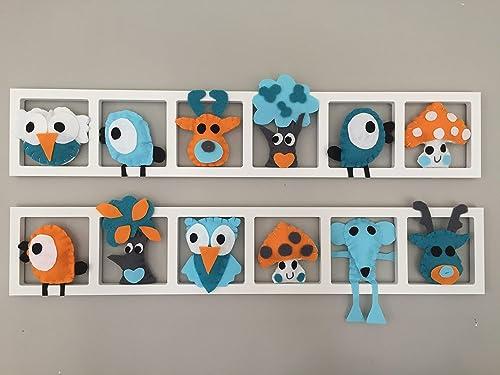 Deco murale pour chambre de bébé- composition orange ...