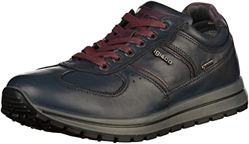 IGI&Co Gore-Tex 21366 - Zapatillas de Cuero Hombre, Color Azul, Talla 41
