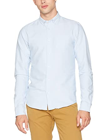 181d5d1b134 Amazon.com: Scotch & Soda Men's Classic Button Down Oxford Shirt Blue Shirt:  Clothing