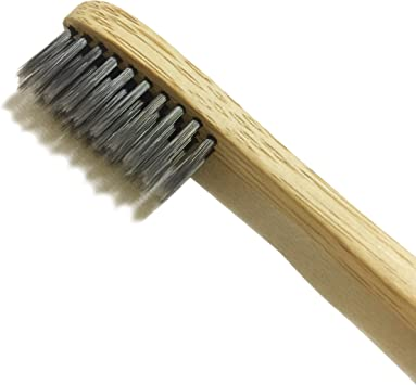 LiveCoco Natural Toothbrush with Bamboo and Charcoal Fibre Bristles