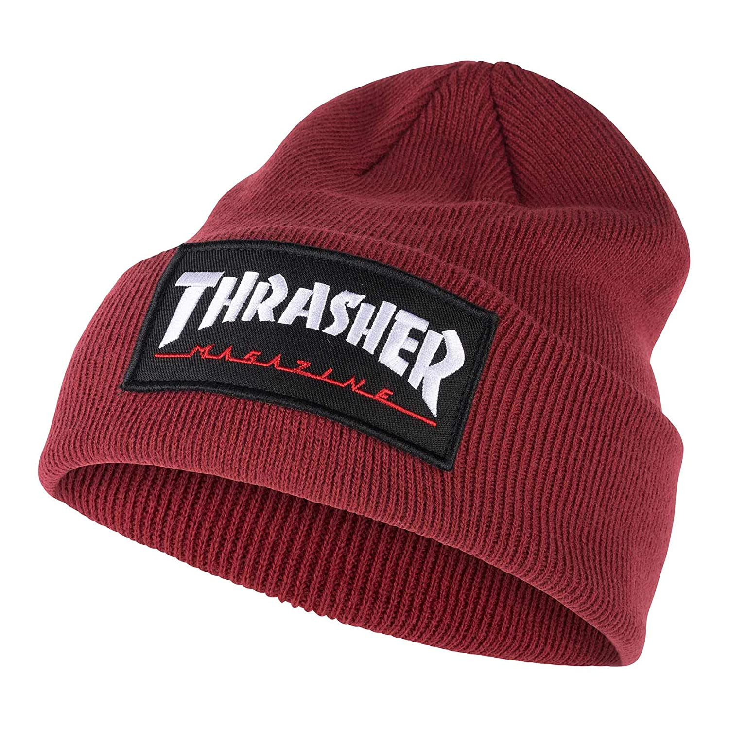 4bad197ca157 Thrasher Logo Patch Beanie at Amazon Men s Clothing store