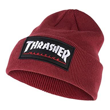 85f6a3c1f0a Image Unavailable. Image not available for. Color  Thrasher Logo Patch  Beanie