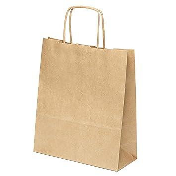 25 pequeñas bolsas de papel de estraza de 20 x 24 x 8 cm y ...