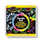 Melissa & Doug 15947 5947 Scratch Art Doodle Pad Book Arts & Crafts, Mini Stylus Included, Easy to Use, 16 Spiral-Bound Pages