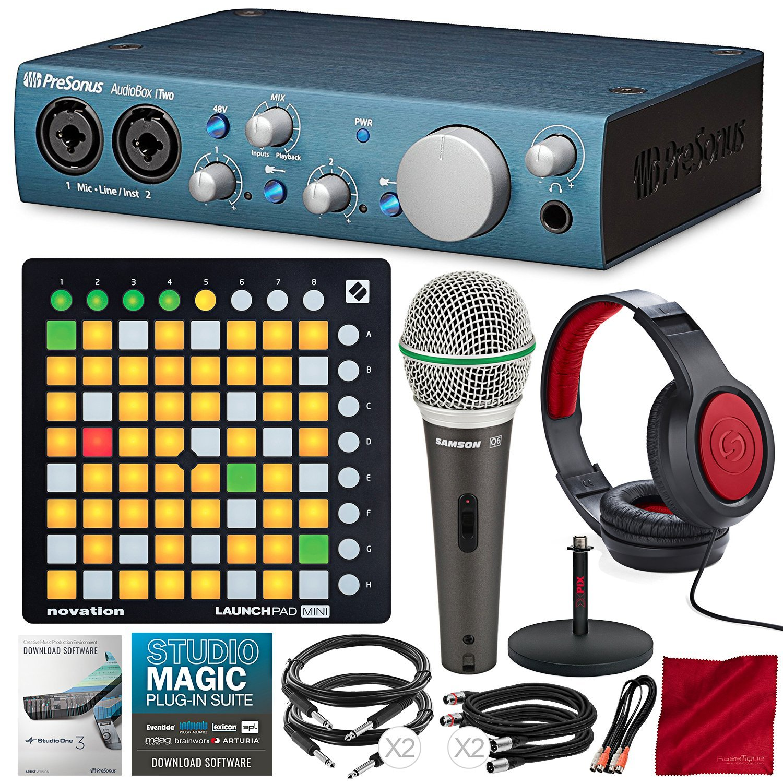 Sistema de grabación PreSonus AudioBox iTwo 2x2 USB / iPa...