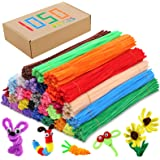 Pipe Cleaners Chenille Stems 1050 Pieces 30 Assorted Colors for Craft Arts Creative DIY Projects Decorations, 6mm x 12inch Fu