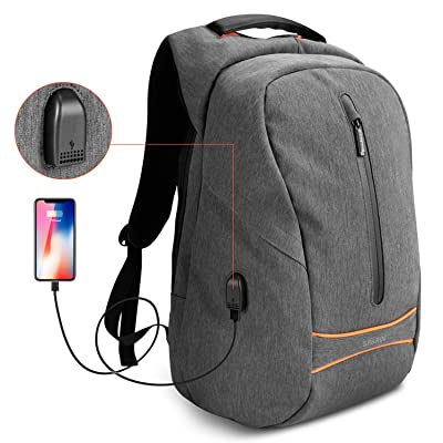 "Laptop Backpack, SPARIN Business Travel 15.6"" Computer backpack Anti-theft Water Resistant Classic Nylon College School Bookbag with USB Charging Port for Men Women, Grey hot sale 2017"