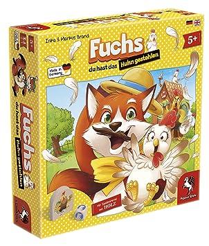 ba327f15b386f4 Pegasus Spiele 66015G - Fuchs du hast das Huhn gestohlen  Amazon.de ...