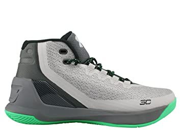 Under Armour Curry 3 zapatillas de baloncesto para niños, gris / verde: Amazon.es: Deportes y aire libre