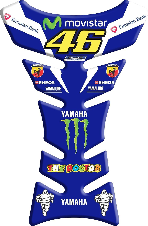 ADESIVI-STICKER 3D compatible Valentino Rossi 46 blu 2 Tank Pad ADESIVI PARASERBATOIO TANKPAD RESINATO EFFETTO 3D