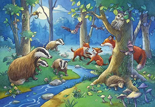 Ravensburger - Puzzle 2 x 24 Piezas, diseño los Animales del Bosque (09117 1)