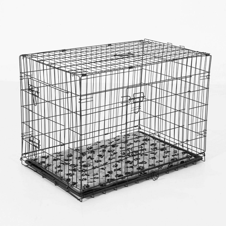 PawHut® Transportkäfig Drahtkäfig Hundebox Hunde Käfig mit Kissen ...