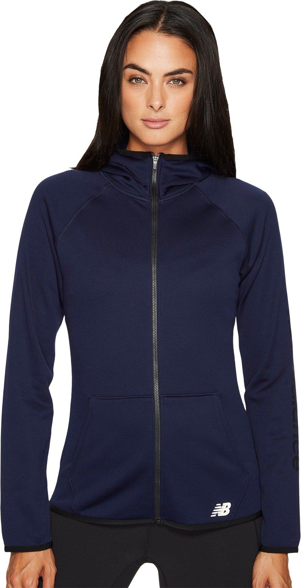 New Balance Womens Accelerate Fleece Full Zip, Pigment, Medium