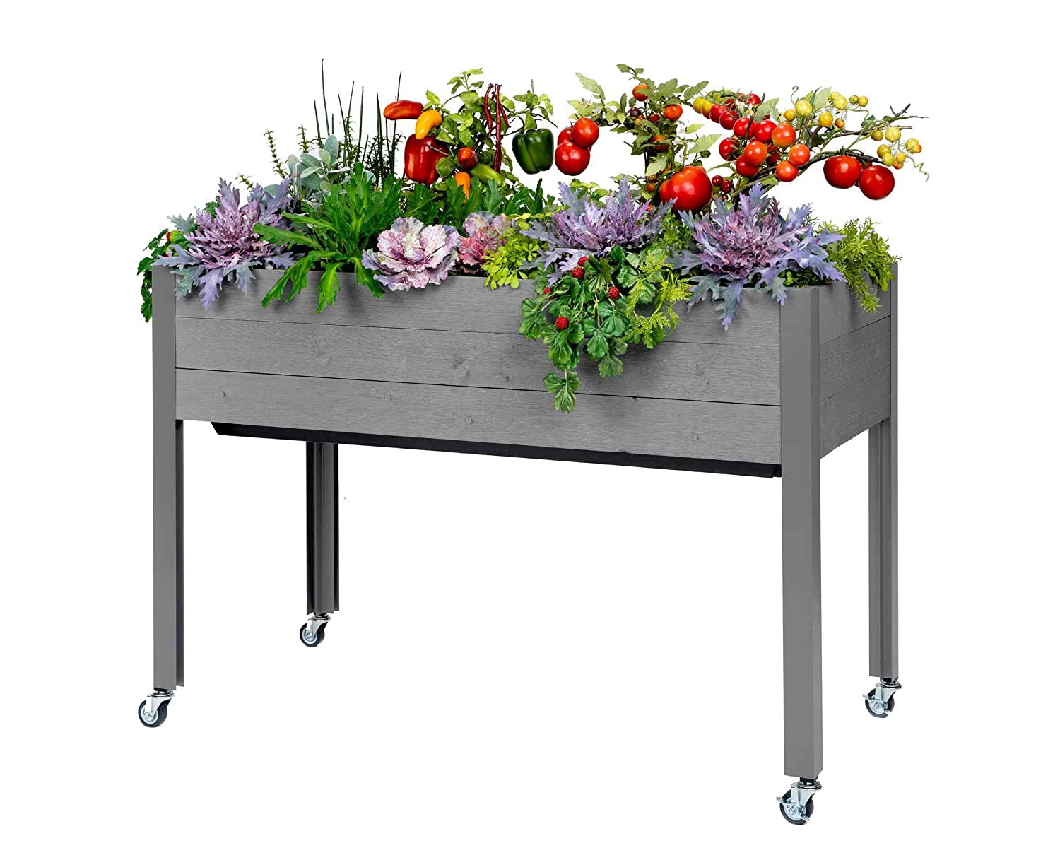 """CedarCraft Self-Watering Elevated Spruce Planter (21"""" x 47"""" x 32""""H) - The Flexibility of Container Gardening + The Convenience of a self-Watering System. Grow Healthier, More Productive Plants."""