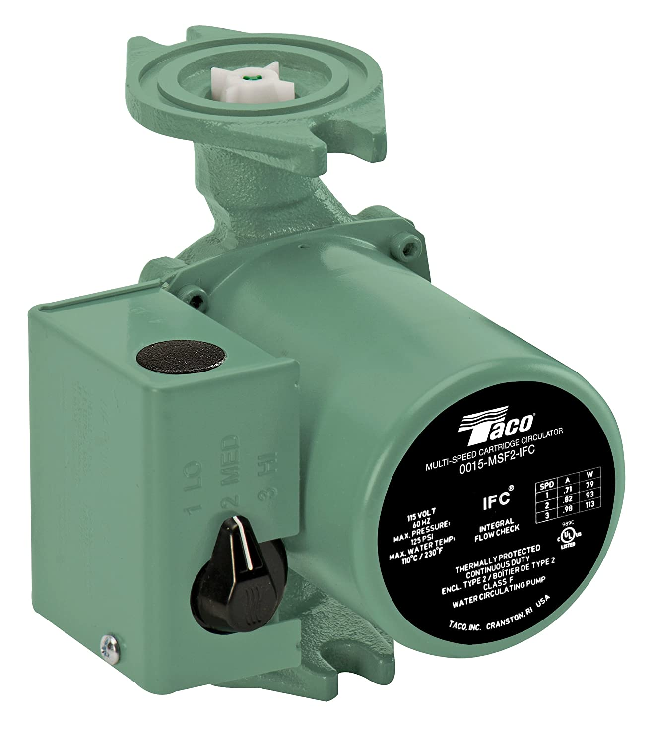 Taco 0015-MSF2-IFC 3-Speed Circulator, Cast Iron: Portable Power Water Pumps:  Amazon.com: Industrial & Scientific