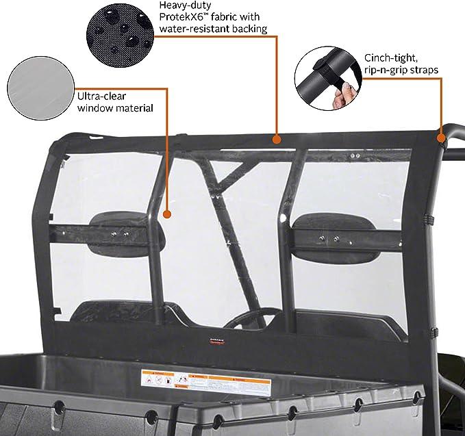 Classic Accessories 18-029-010401-00-SC QuadGear Extreme UTV Rear Window For Polaris Ranger XP//HD Black