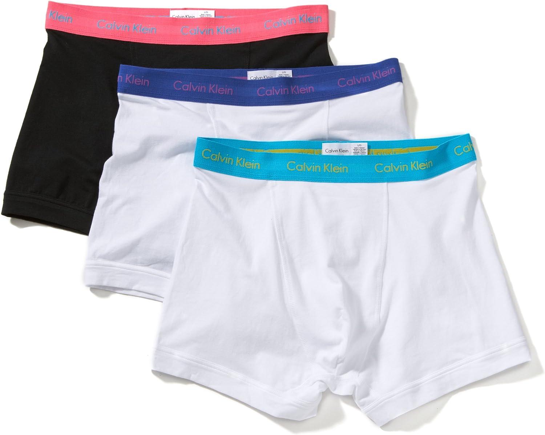 Calvin Klein U2662G, calzoncillos – Lote de 3 – Hombre Multicolor (Pbw Black, Blue Atoll, White) M: Amazon.es: Ropa y accesorios