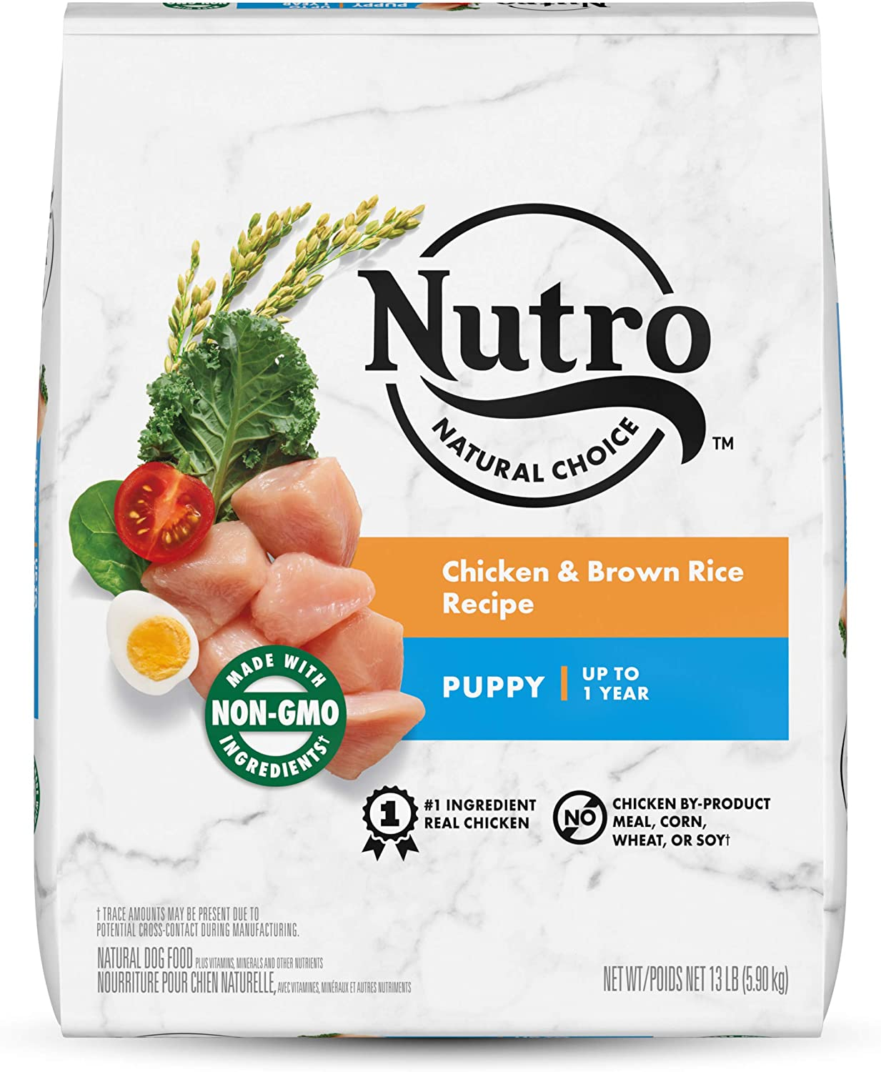 NUTRO NATURAL CHOICE Puppy Dry Dog Food, Chicken & Brown Rice Recipe Dog Kibble, 13 lb. Bag