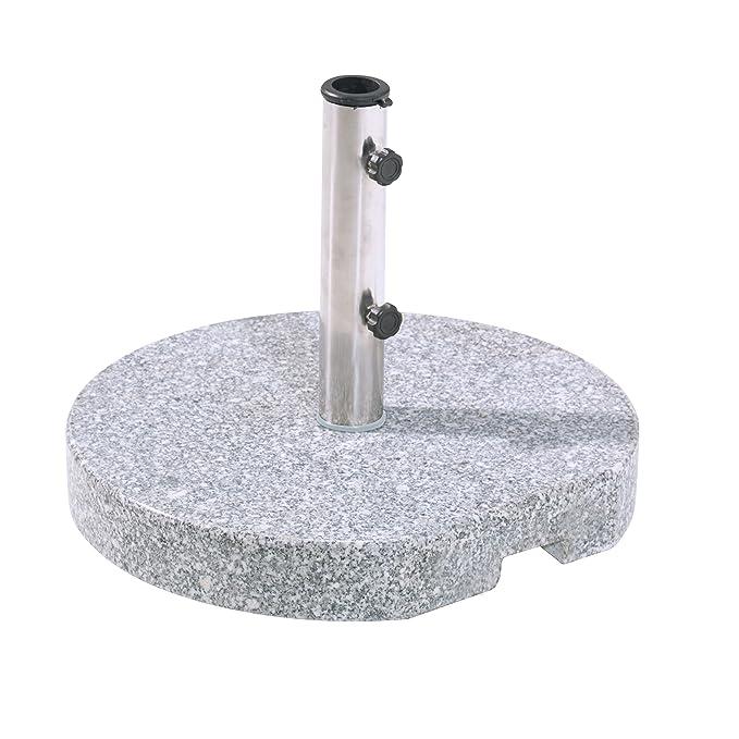 Schirmständer Granit rund 25kg Sonnenschirmständer Granitständer bis Ø48 mm Rohr