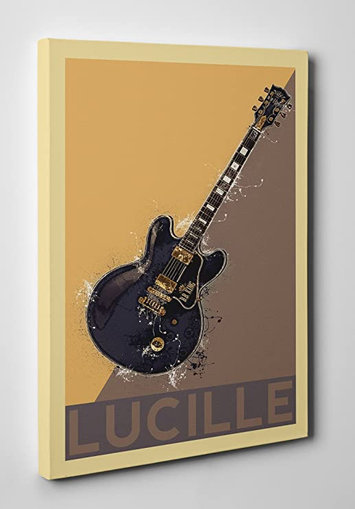 BB King Lucille negro Gibson guitarra abstracta lienzo pared Art ...