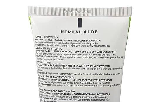 Loción de lavado de cuidado herbal de Aloe de Herbalife, 250 ...