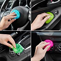 FiveJoy Car Cleaning Gels, 4-Pack Universal Auto Detailing Tools Car Interior Cleaner Putty, Dust Cleaning Mud for PC…
