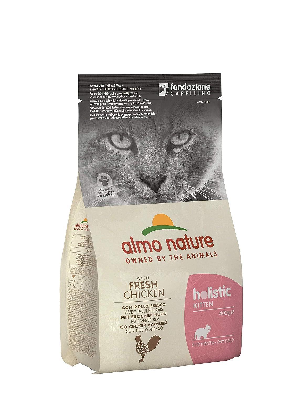 Almo nature Cat Dry PFC Holistic Kitten Pollo y Arroz: Amazon.es: Productos para mascotas