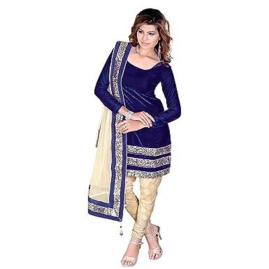 fb1d815e0b Nafiza Indian-Pakistani Ethnic Traditional party Wear Semi Stitched Designer  Velvet Salwar Kameez: Amazon.co.uk: Clothing